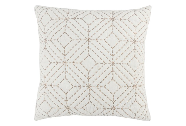 Accent Pillow-Natural Geo Diamonds 22X22 - 360