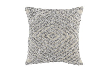 Accent Pillow-Grey Texture Diamond 20X20