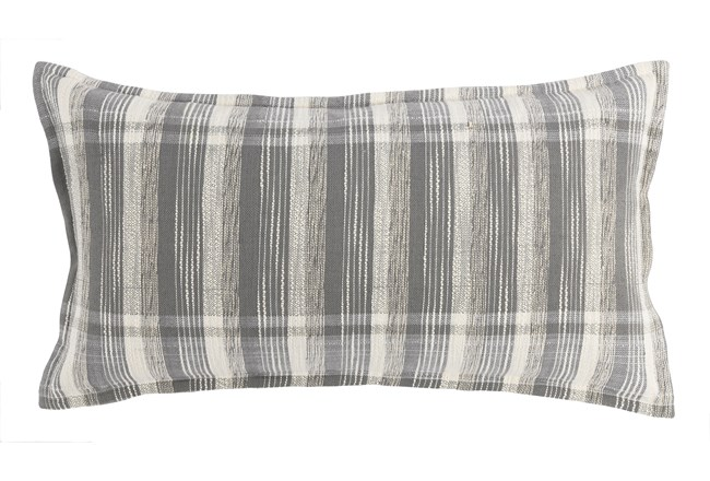 Accent Pillow-Grey Casual Plaid 14X26 - 360
