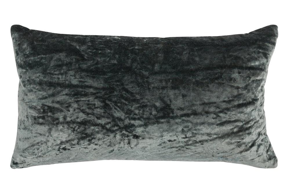 Accent Pillow-Bay Green Viscose Velvet 14X26