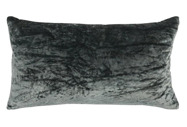Accent Pillow-Bay Green Viscose Velvet 14X26 - 360