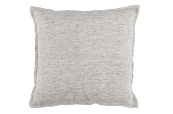 Accent Pillow-Grey Flange Edge 22X22