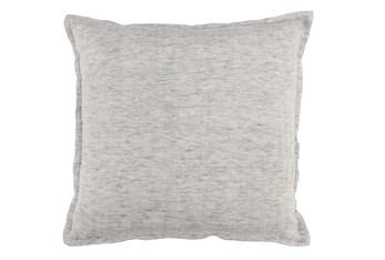 Accent Pillow-Grey Flange Edge 22X22