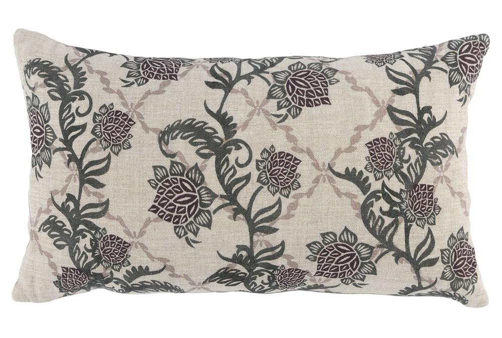Accent Pillow-Bay Green Floral Vine 14X26