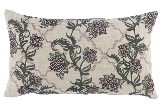 Accent Pillow-Bay Green Floral Vine 14X26 - 360