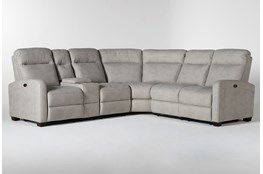 "Jarrell Grey 3 Piece 101"" Power Reclining Sectional With Left Arm Facing Console Loveseat"