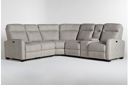 "Jarrell Grey 3 Piece 101"" Power Reclining Sectional With Right Arm Facing Console Loveseat"