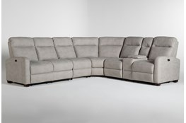 Jarrell Grey 4 Piece Power Reclining Sectional With Right Arm Facing Console Loveseat