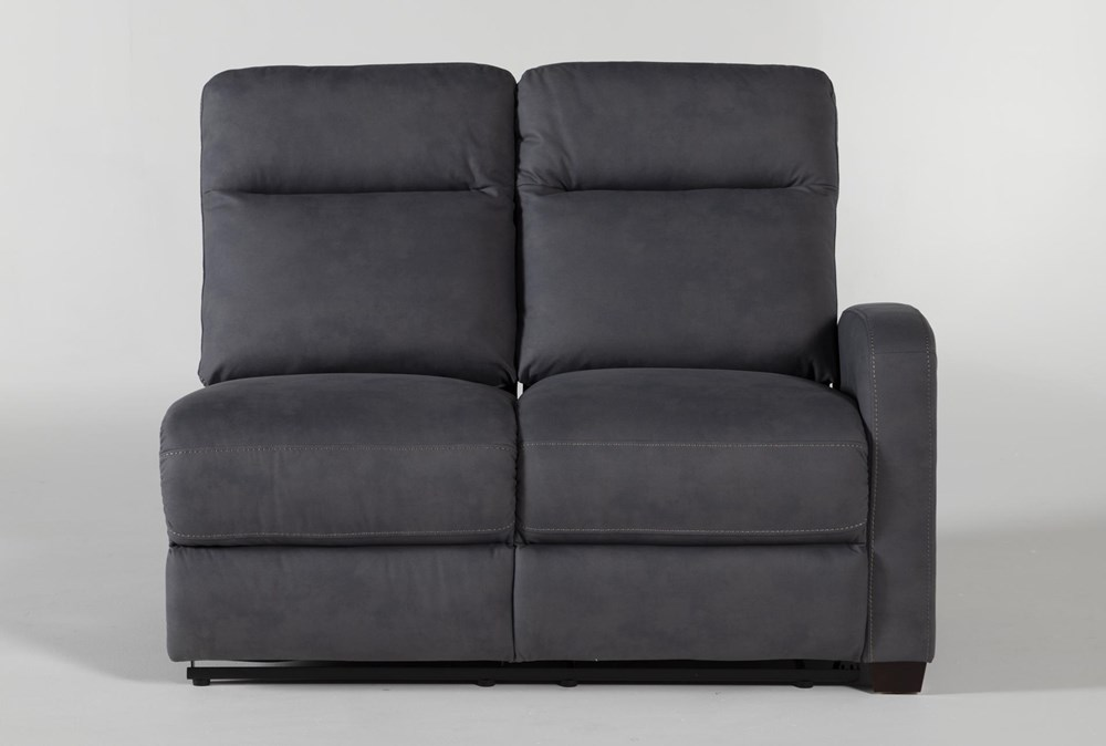 Jarrell Blue Grey Right Arm Facing Power Reclining Loveseat With USB