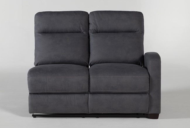 Jarrell Blue Grey Right Arm Facing Power Reclining Loveseat With USB - 360