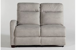 Jarrell Grey Left Arm Facing Power Reclining Loveseat With USB