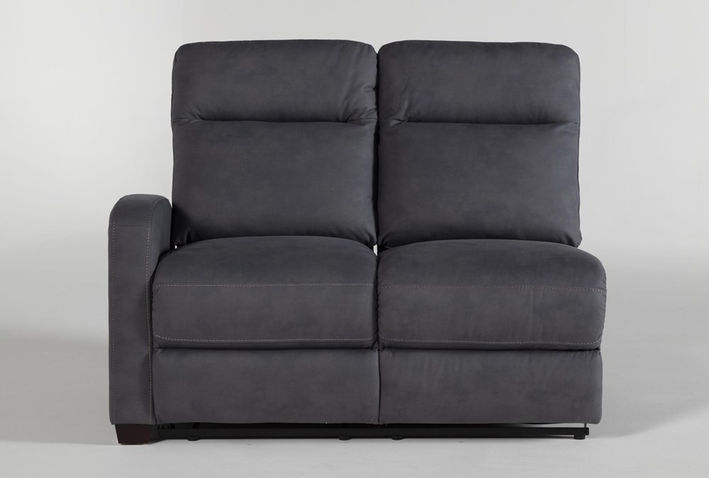 Jarrell Blue Grey Left Arm Facing Power Reclining Loveseat With USB