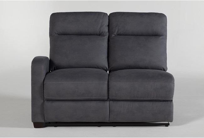 Jarrell Blue Grey Left Arm Facing Power Reclining Loveseat With USB - 360