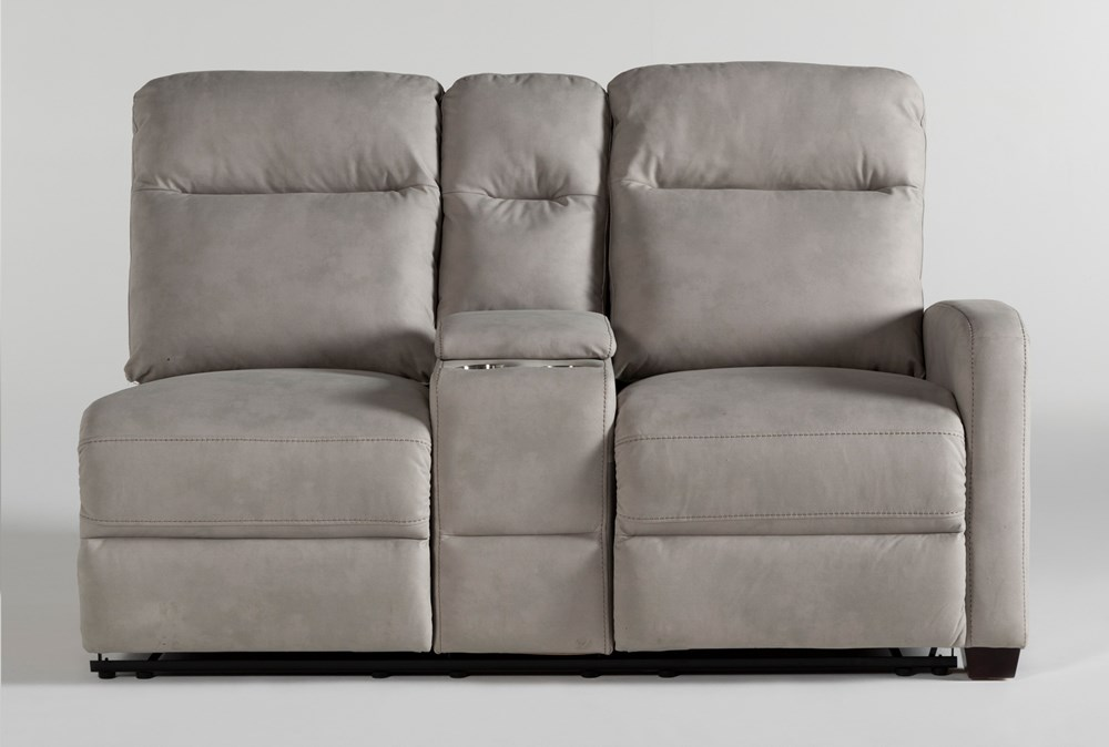 Jarrell Grey Right Arm Facing Dual Power Reclining Console Loveseat With USB