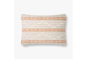 Accent Pillow-Magnolia Home Wool Code Lines Grey/Multi With Down Fill 20X20 By Joanna Gaines