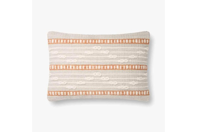 Accent Pillow-Magnolia Home Wool Code Lines Grey/Multi With Down Fill 20X20 By Joanna Gaines - 360