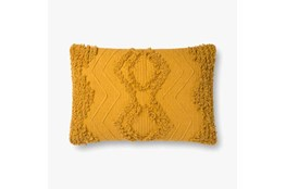 Accent Pillow-Magnolia Home CottonBoucle Diamond Gold With Down Fill 16X26 By Joanna Gaines