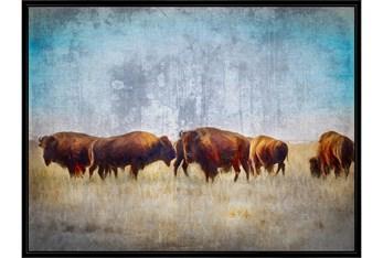 50X38 Buffalo Gathering