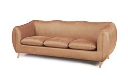 Brown Nubuck Leather Sofa