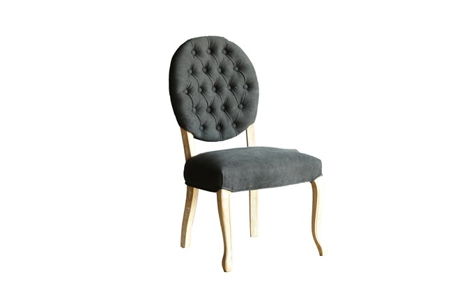 Black Tufted Dining Chair - 360