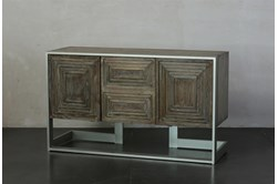 Weathered + Antique White Sideboard