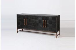Modern Black Oak + Bronze Sideboard