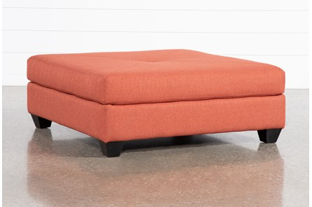 Harper Foam Red Square Cocktail Ottoman