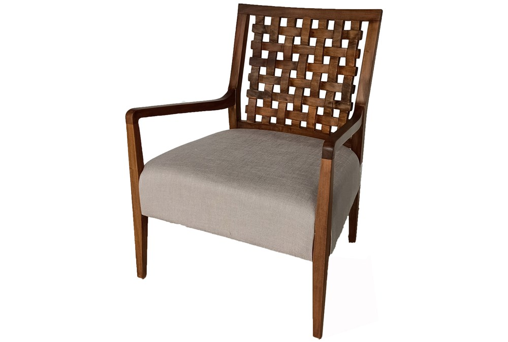 Mahogany Grid Back Accent Chair