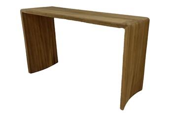 Natural Gmelina Wood Waterfall Sofa Table