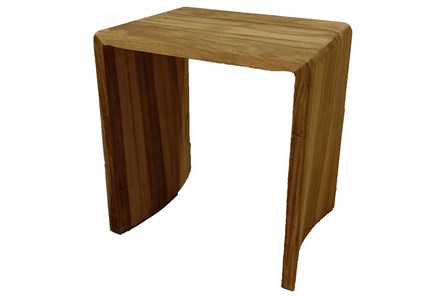 Natural Gmelina Wood Waterfall Accent Table