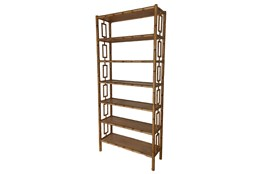 Mahogany Wood Cut Out Bookcase