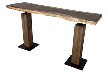 Acacia Live Edge Sofa Table