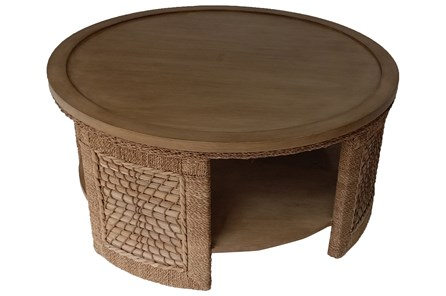 Natural Woven Coffee Table