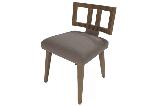 Grey Cut Out Back Upholstered Dining Chair - 360