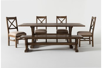Duke 84 Inch 6 Piece Dining Set