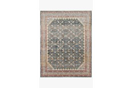 """2'3""""x4' Rug-Magnolia Home Graham Blue/Persimmon By Joanna Gaines"""