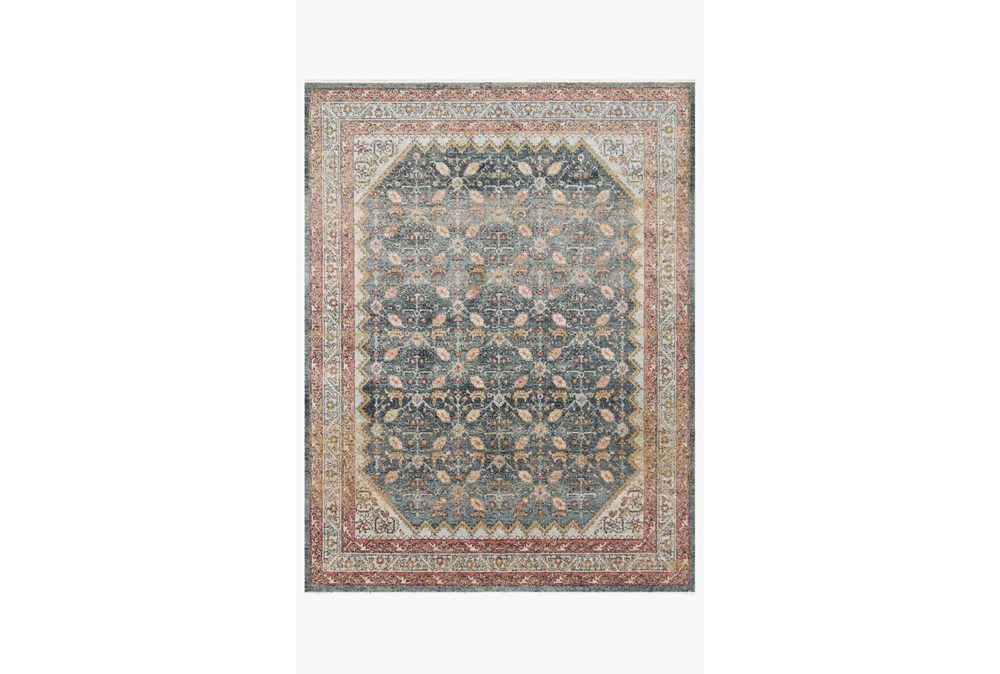 27X90 Rug-Magnolia Home Graham Blue/Persimmon By Joanna Gaines
