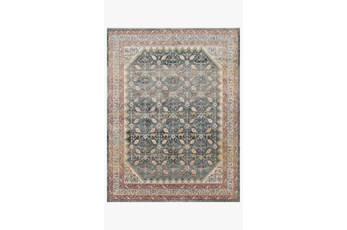 """2'3""""x10' Rug-Magnolia Home Graham Blue/Persimmon By Joanna Gaines"""