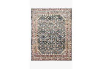 """6'6""""x9'6"""" Rug-Magnolia Home Graham Blue/Persimmon By Joanna Gaines"""