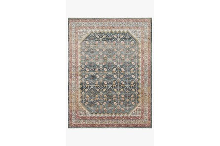 79X115 Rug-Magnolia Home Graham Blue/Persimmon By Joanna Gaines