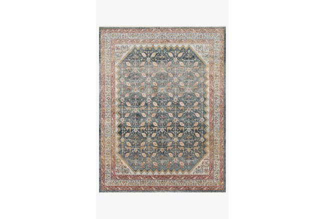 """6'6""""x9'6"""" Rug-Magnolia Home Graham Blue/Persimmon By Joanna Gaines - 360"""