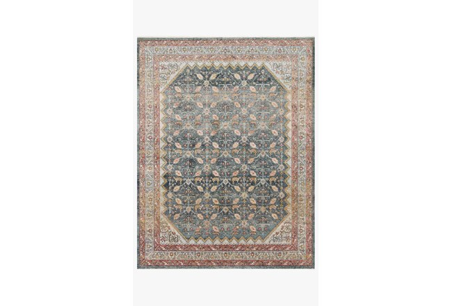 94X120 Rug-Magnolia Home Graham Blue/Persimmon By Joanna Gaines - 360