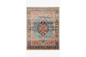 27X90 Rug-Magnolia Home Graham Blue/Sunrise By Joanna Gaines