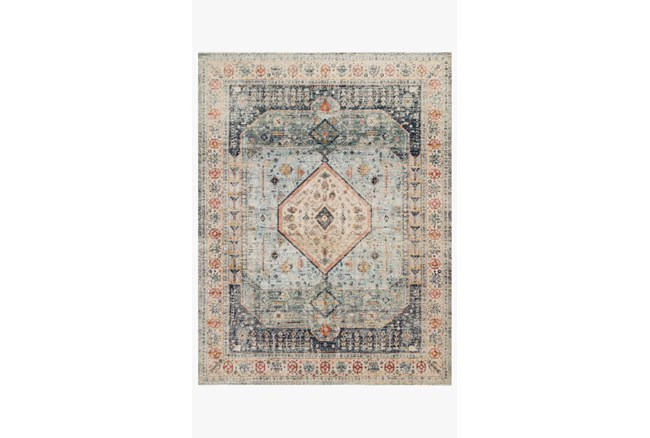 """2'3""""x4' Rug-Magnolia Home Graham Blue/Antique Ivory By Joanna Gaines - 360"""