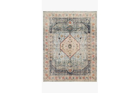 27X90 Rug-Magnolia Home Graham Blue/Antique Ivory By Joanna Gaines
