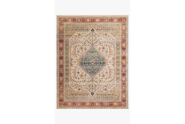 """2'3""""x4' Rug-Magnolia Home Graham Persimmon/Antique Ivory By Joanna Gaines - 360"""