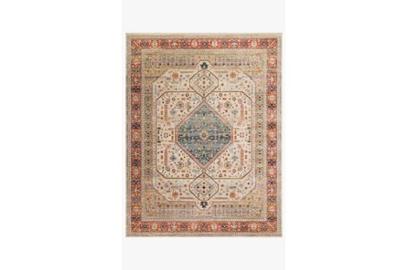 79X115 Rug-Magnolia Home Graham Persimmon/Antique Ivory By Joanna Gaines