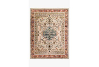 """7'8""""x10' Rug-Magnolia Home Graham Persimmon/Antique Ivory By Joanna Gaines"""