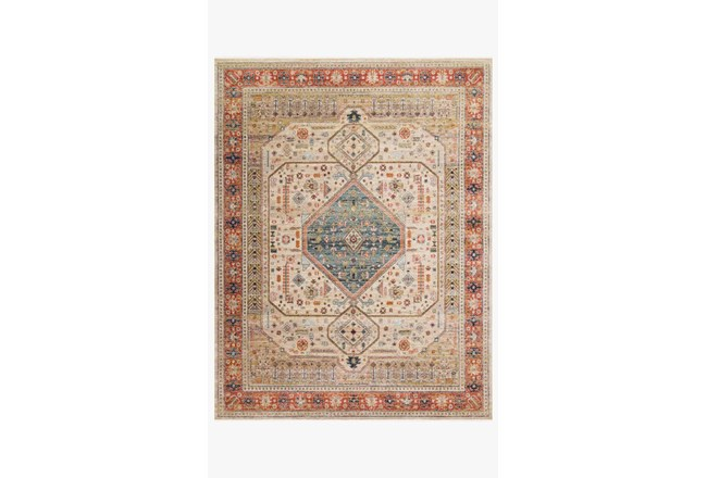 94X120 Rug-Magnolia Home Graham Persimmon/Antique Ivory By Joanna Gaines - 360