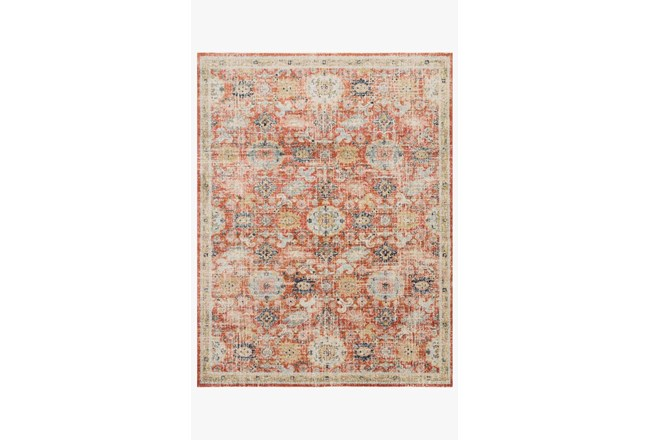 48X72 Rug-Magnolia Home Graham Persimmon/Multi By Joanna Gaines - 360